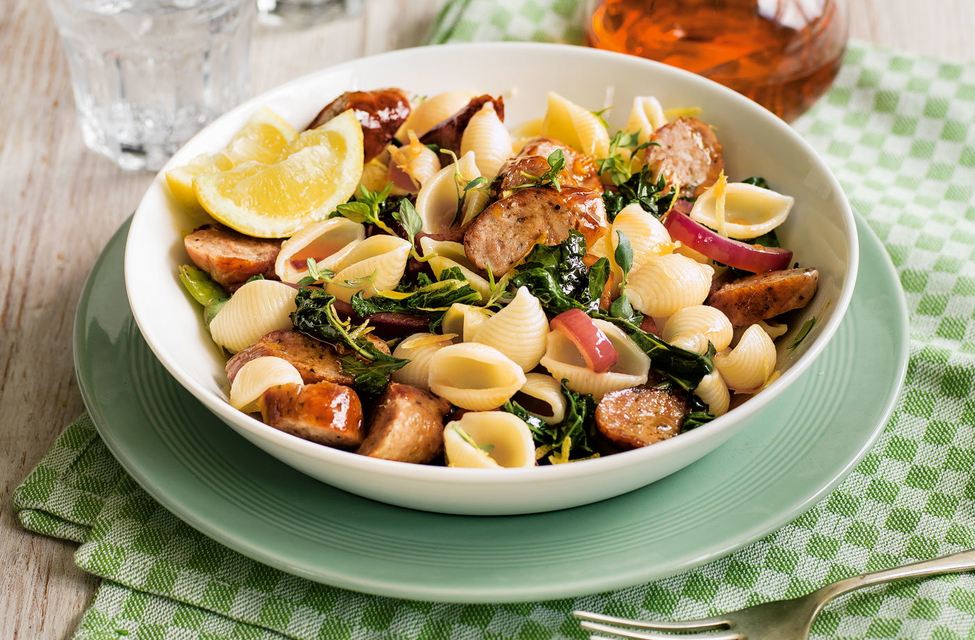 Sausage and kale pasta recipe