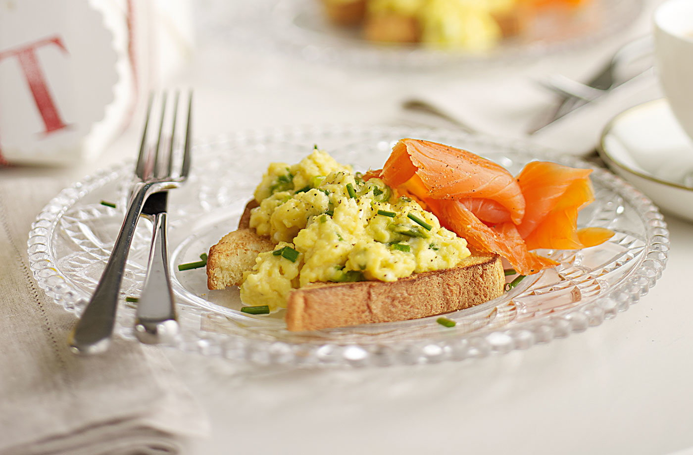 Smoked salmon and scrambled eggs recipe