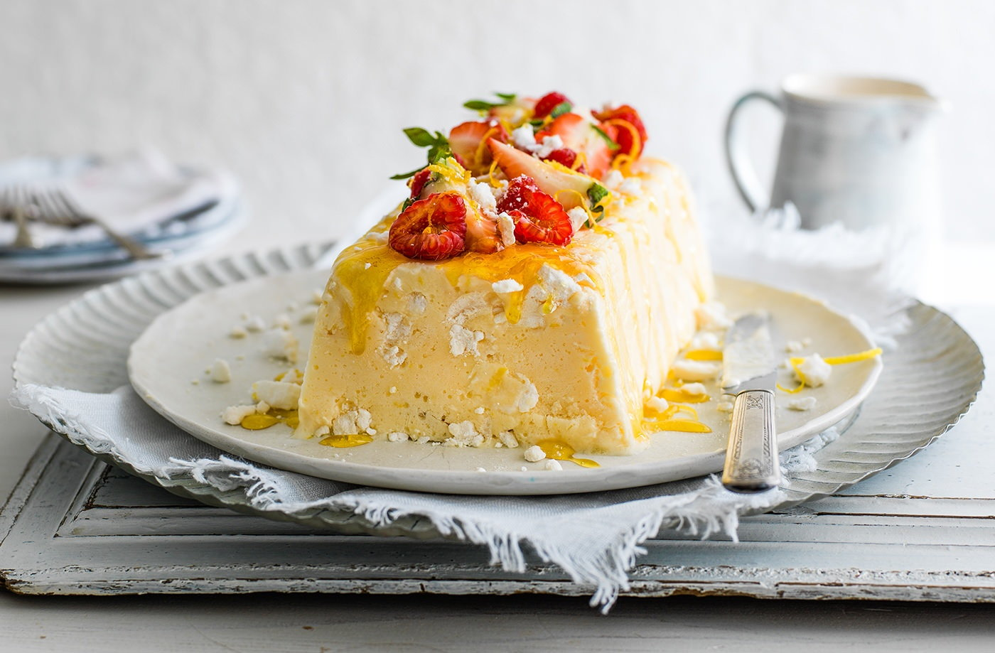 Lemon and Yogurt Semifreddo | Italian Desserts | Tesco Real Food