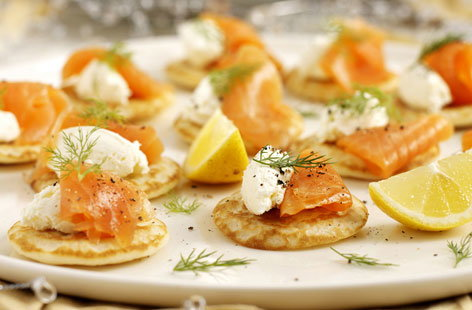 Smoked Salmon Blinis HERO