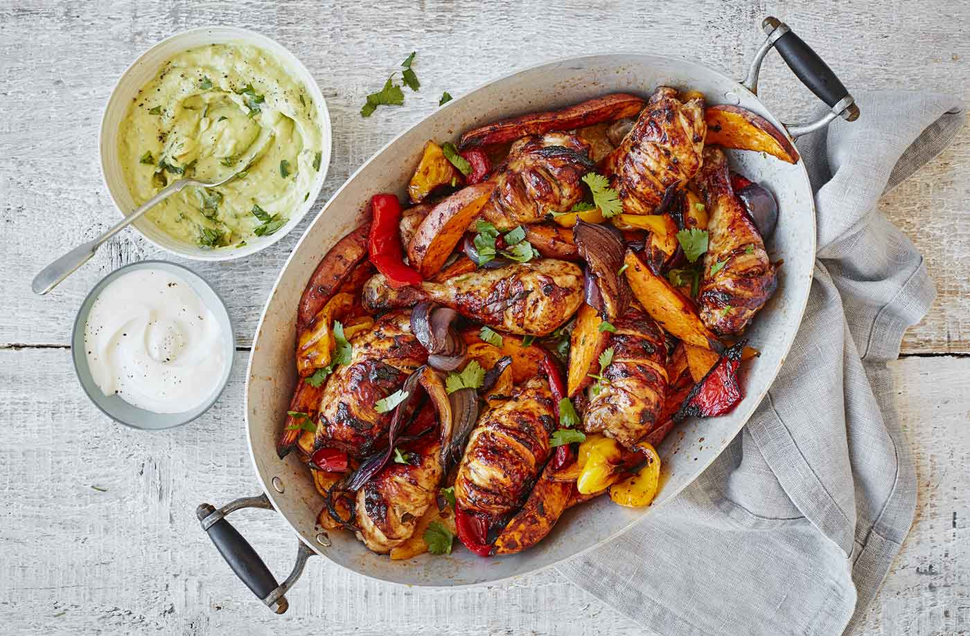 Smoky Mexican chicken traybake