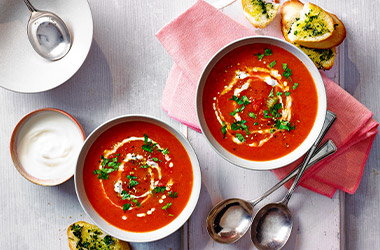 Smoky roasted pepper soup