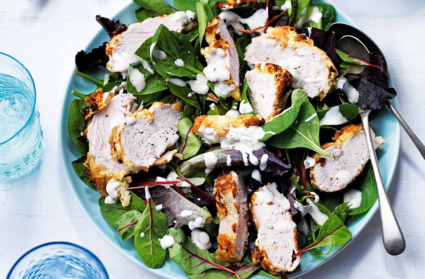 Southern-fried chicken salad recipe