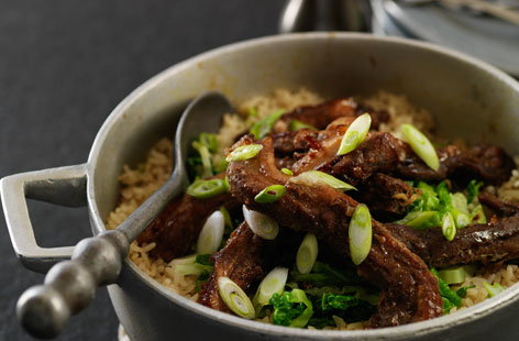 Spiced oriental pork pot hero