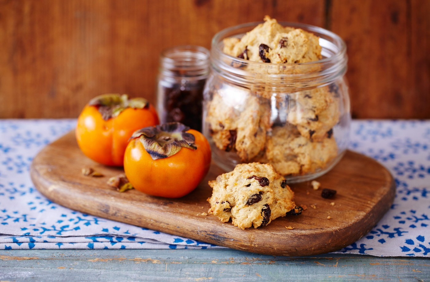 Spiced persimmon cookies recipe