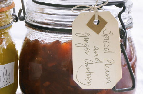 Spiced plum and ginger chutney recipe