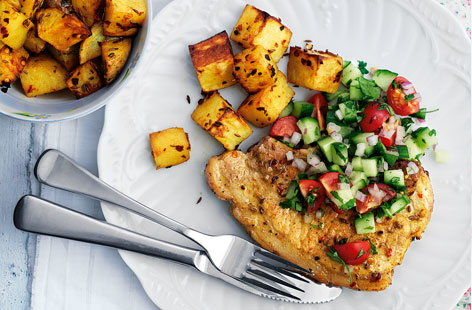 Spicy pork with cumin potatoes HERO