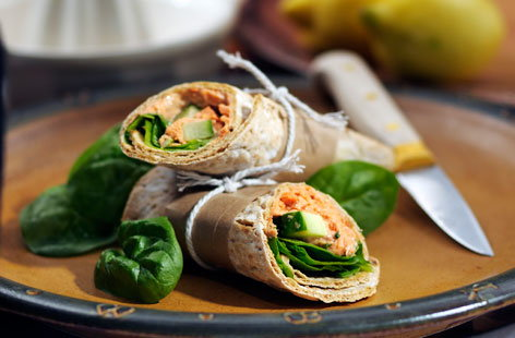 Spinach Salmon Wrap front (h)
