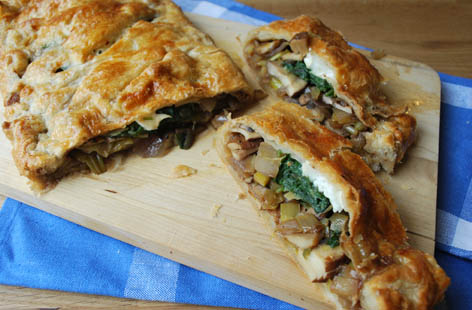 Spinach and goats cheese platt