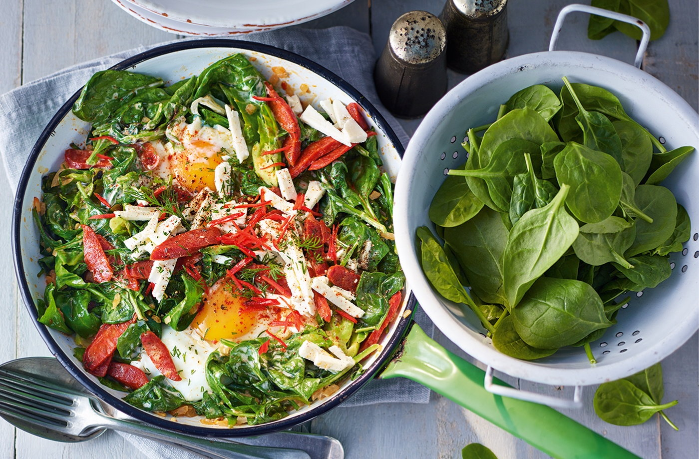 Spinach menemen