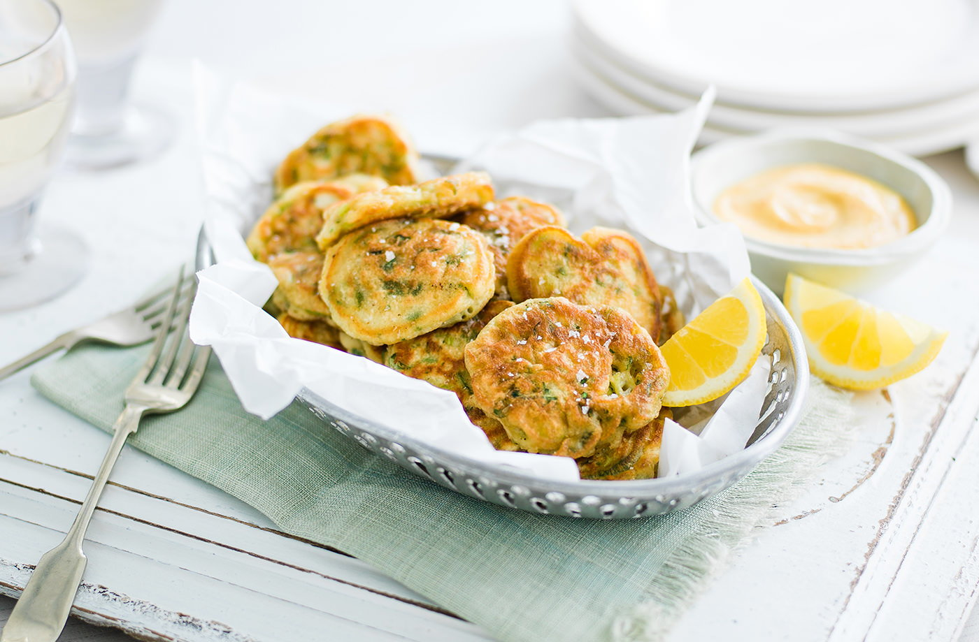 Spring Onion Fritters Recipe Vegetarian Recipes Tesco Real Food