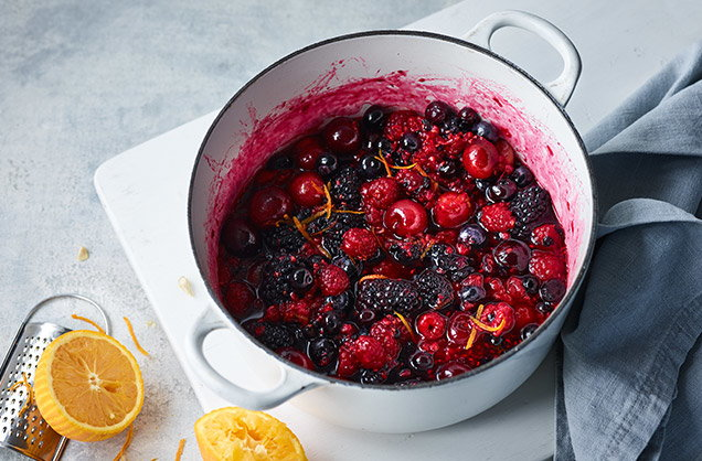 Cook the berries