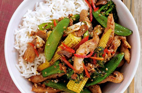 Sticky pork stir fry HERO