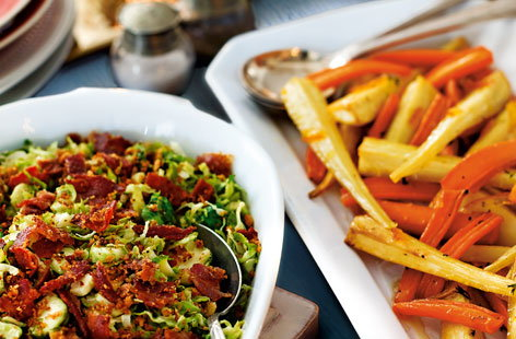 Marmalade roasted carrots and parsnips