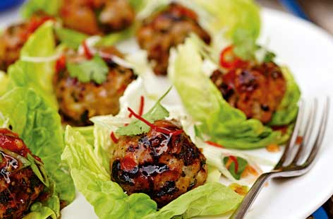 Sticky sweet chilli pork kofte hero