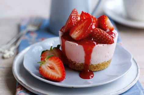 Strawberry cheesecake HERO