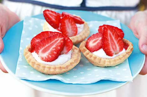 Strawberry tartlets hero