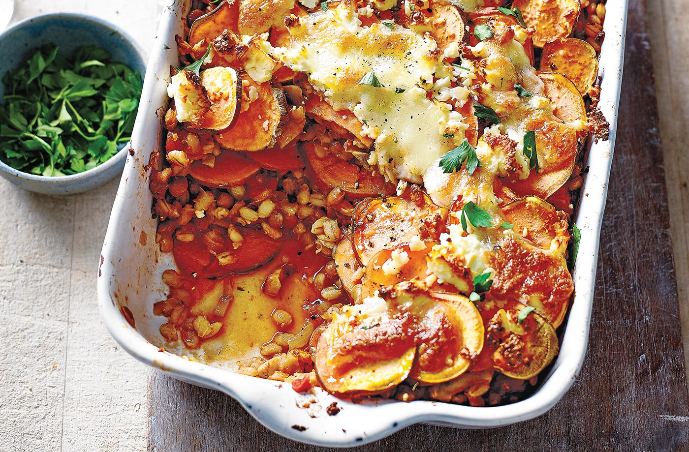 Sweet Potato And Lentil Lasagne