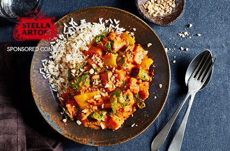 All you need is massaman curry paste and couple of store cupboard ingredients to make this fiery veggie sweet potato and peanut massaman curry.