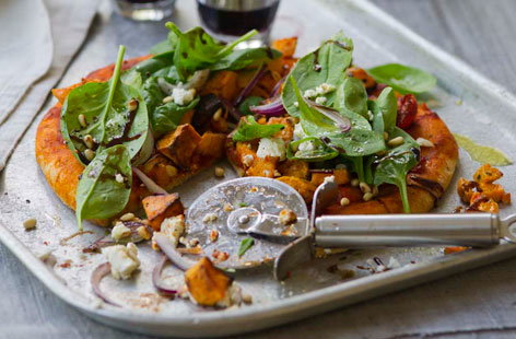 Sweet potato salad pizza HERO
