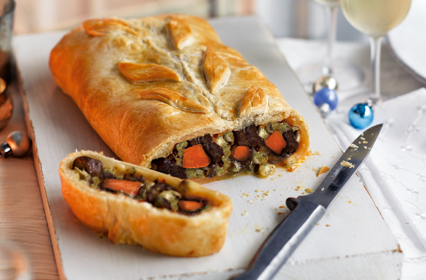 Sweet Potato Chestnut And Stilton Wellington