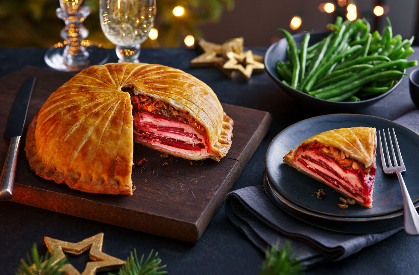 Beetroot and ricotta stacked pithivier recipe
