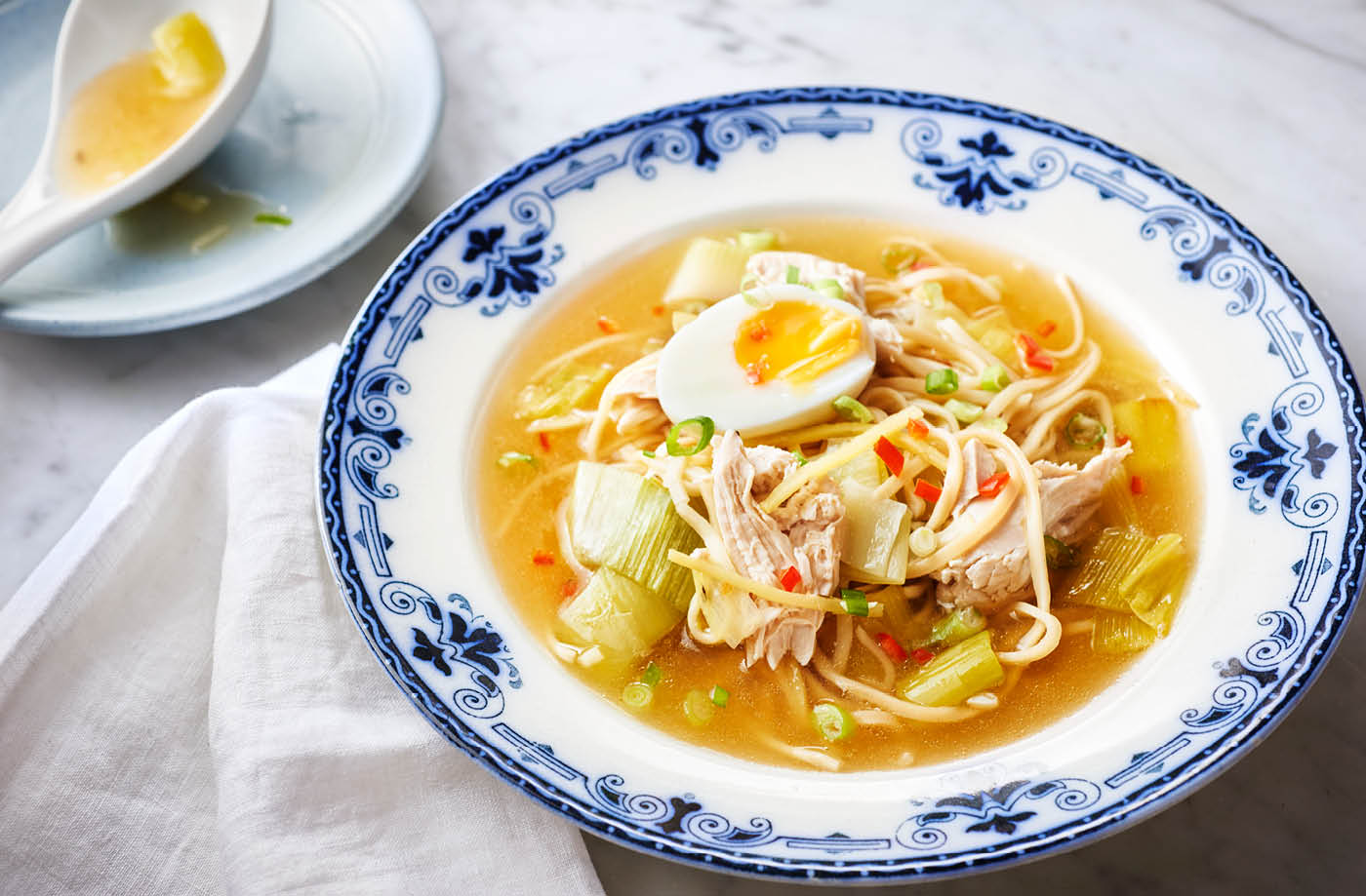Chicken noodle soup recipe tesco real food chicken and leek noodle soup recipe forumfinder Image collections