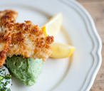 TESCO Great British Chef crumbed plaice with green mash(t)