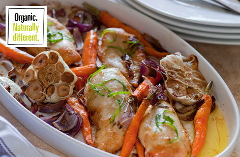Tarragon Baked Chicken and Carrots(h)