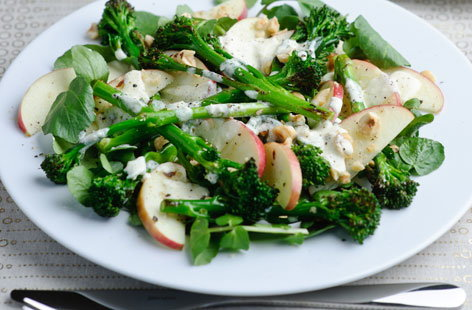Tenderstem Horseradish, pink Lady apple and toasted hazlenuts HERO