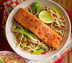 Teriyaki salmon noodles THUMB