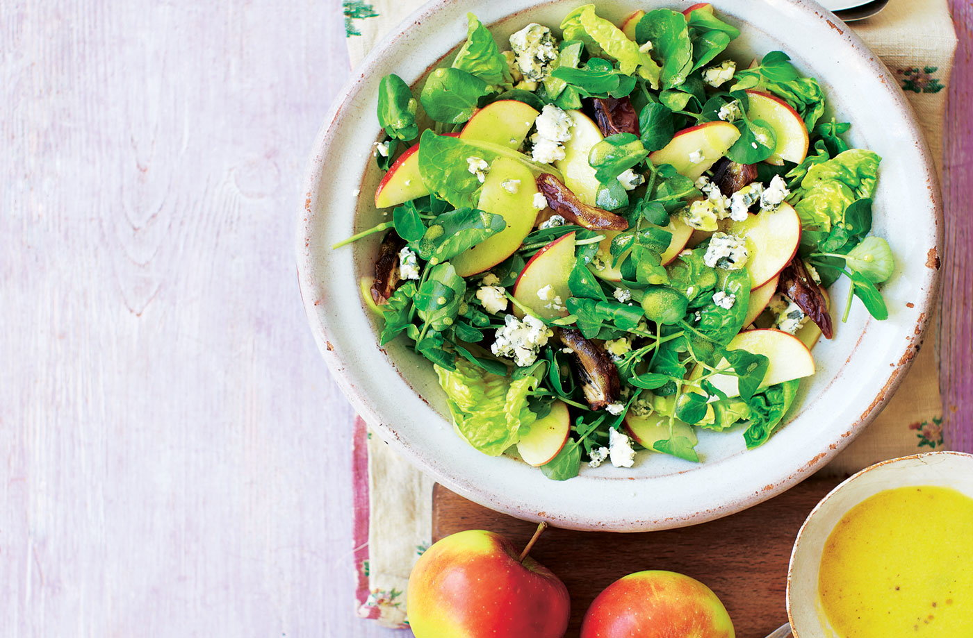 Apple, date and blue cheese salad recipe