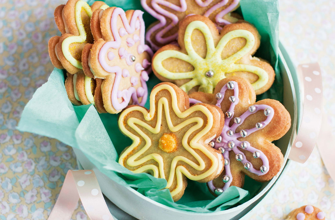 Flower biscuits recipe easter biscuit recipes tesco real food negle Choice Image