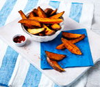 Spiced sweet potato with paprika and cayenne pepper