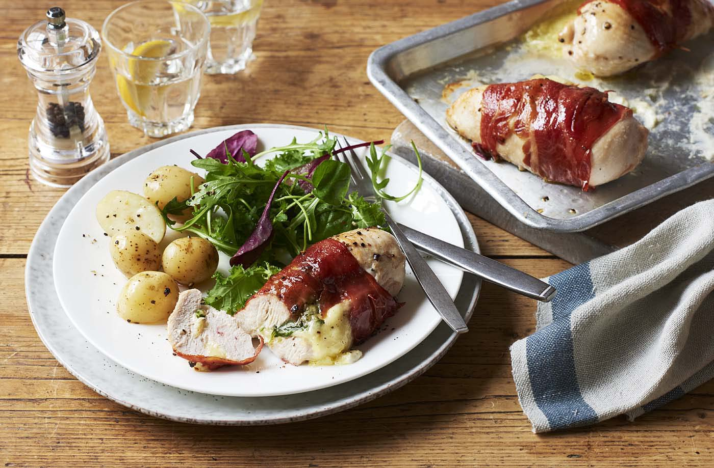 Chicken, mozzarella and Parma ham recipe