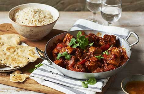 Chicken and tomato spiced curry