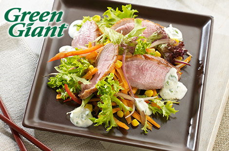 Tesco Soy Glazed Duck Breast with Asian Crunchy Salad