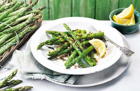 Asparagus with basil and citrus gremolata