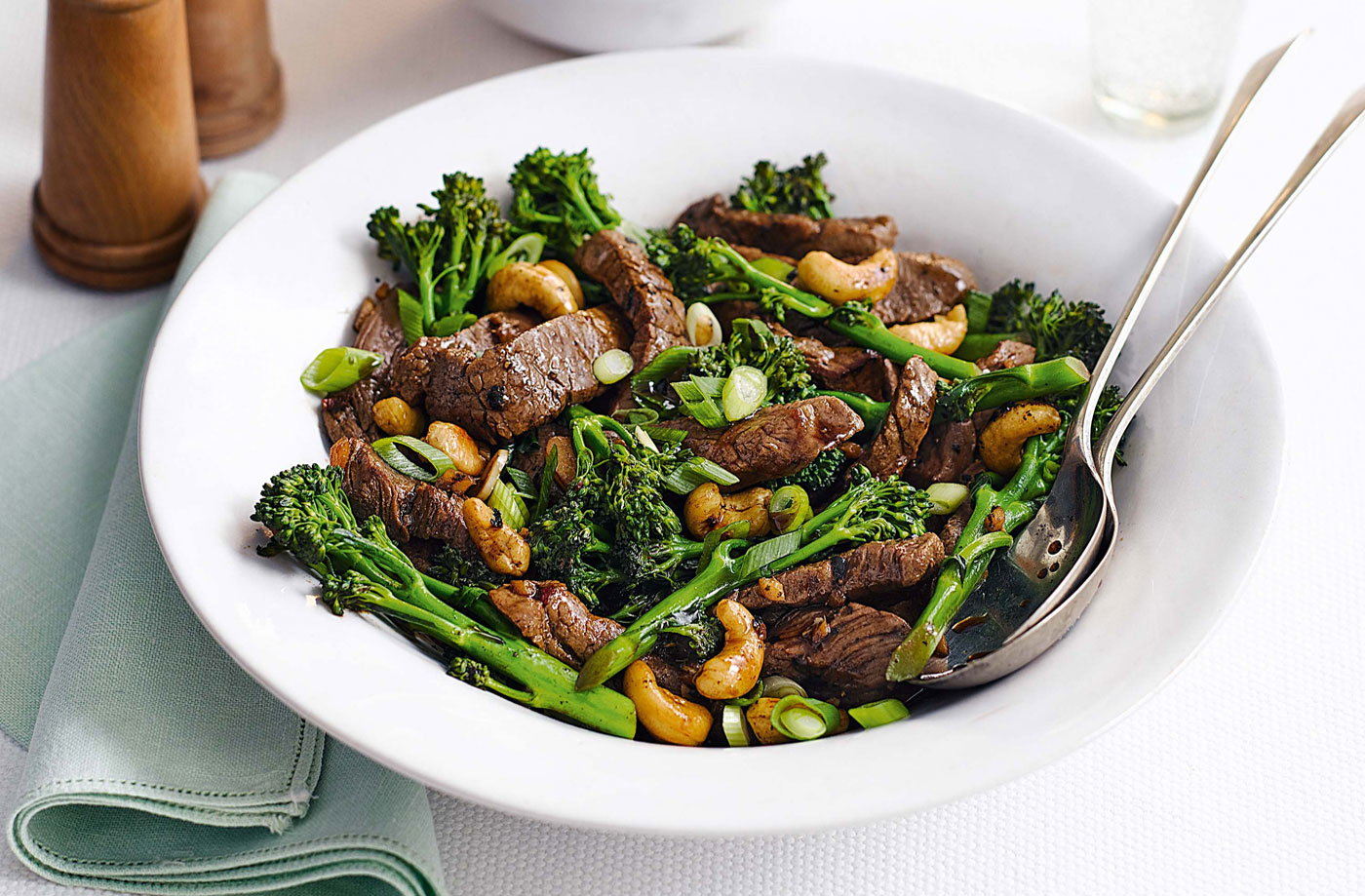Sticky beef with cashews recipe