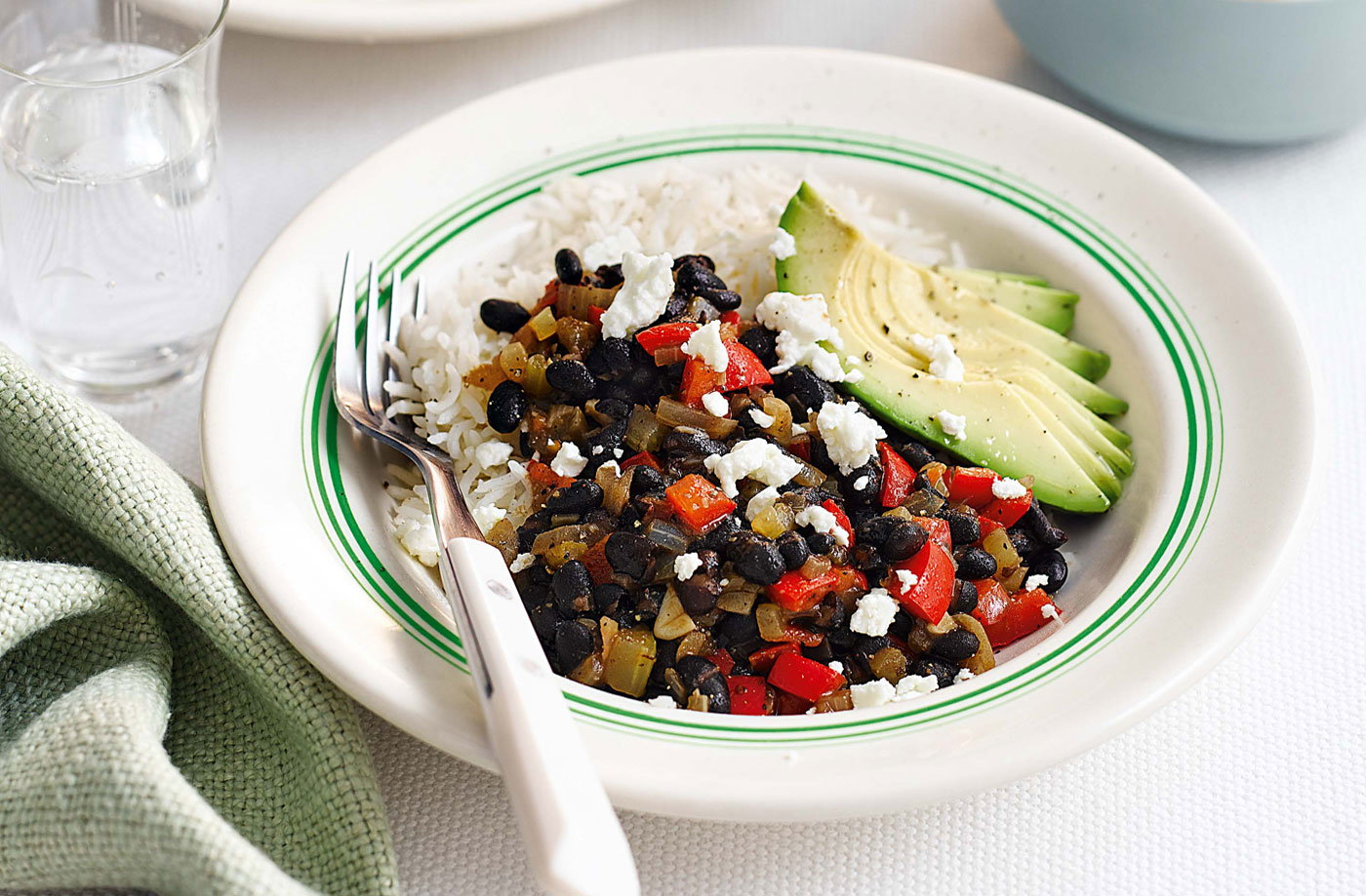 Rice and black bean burrito bowl | Tesco Real Food