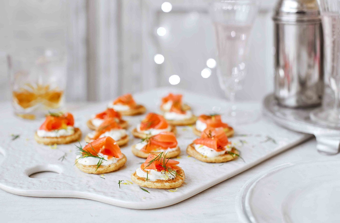 How to make blinis christmas canapes tesco real food for Canape ingredients