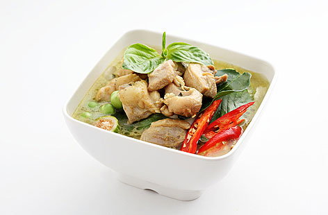 Thai green turkey curry