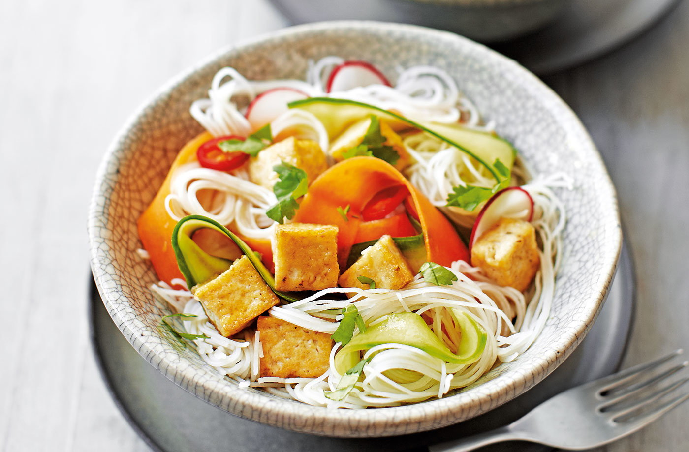 Thai noodle salad with tofu recipe