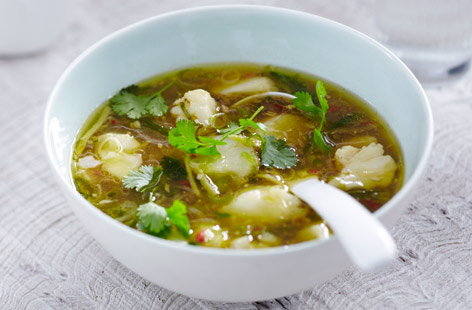 Thai fish soup tesco real food for Fish broth recipe