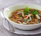 Lemongrass, chicken and chilli soup