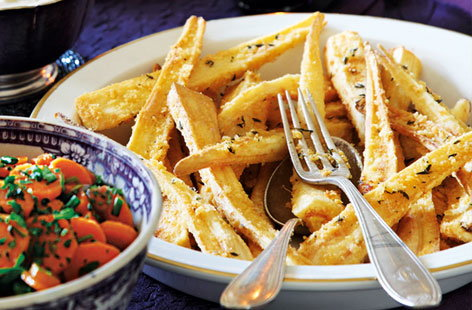 Thyme and Parmesan roast parsnips