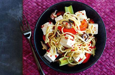 Tofu with Sweet and Spicy Noodles HERO