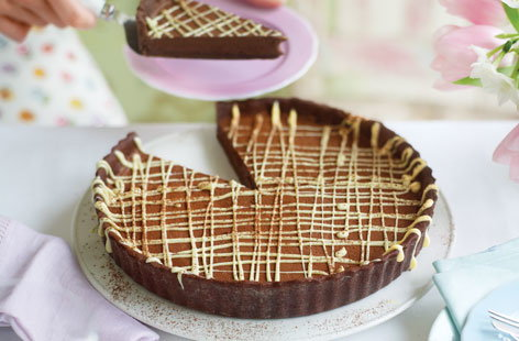 Triple chocolate tart