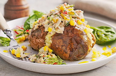 Tuna and sweetcorn jacket potatoes
