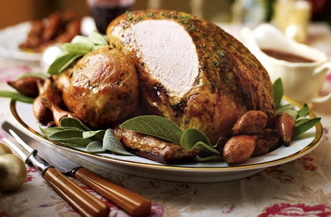 Turkey with shallot and sherry gravy recipe